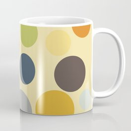 Mid-Century Modern Abstract Art Circles Coffee Mug
