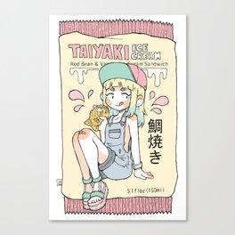 Taiyaki Ice Cream Canvas Print