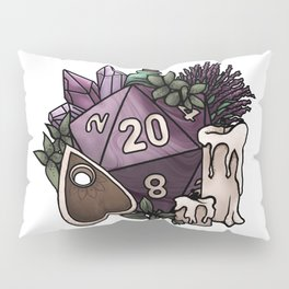 Witchy D20 Tabletop RPG Gaming Dice Pillow Sham