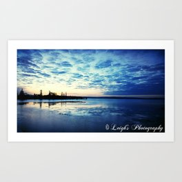 Blue Sunset Art Print