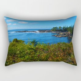 The Pacific Ocean as seen from the Wild Pacific Trail on Ucluelet, BC Rectangular Pillow