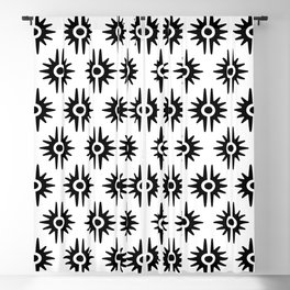 Mid Century Modern Bang Pattern 272 Black and White Blackout Curtain