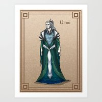 valar morghulis Art Prints featuring Ulmo by wolfanita