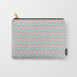 Pink & Blue Chevrons Carry-All Pouch