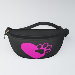 Cute Heart Paw Print product Funny Love Gift For Cat Owners Fanny Pack