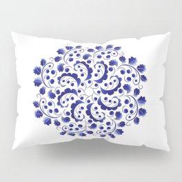Blue berries, blooming mandala Pillow Sham
