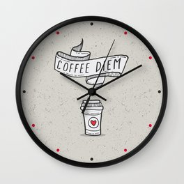 Coffee Diem Wall Clock