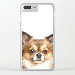 Chihuahua Portrait Clear iPhone Case