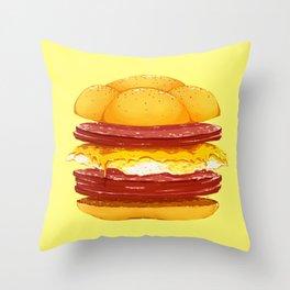 Pork Roll, Egg, & Cheese Throw Pillow