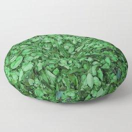 green tea matcha botanical pattern Floor Pillow