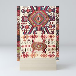 Hotamis Sivas Central Anatolian Kilim Fragment Print Mini Art Print