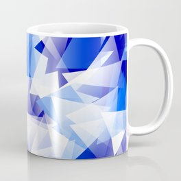 triangles in shades of blue Coffee Mug