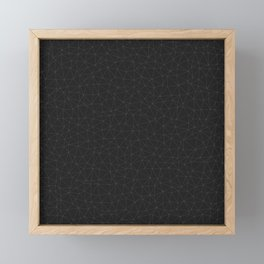 Elegant White and grey geometric mesh Framed Mini Art Print