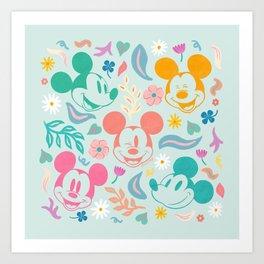 """Botanical Mickey Mouse"" by Sun Lee Art Print"