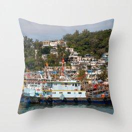 Cheung Chau Island, Hong Kong Throw Pillow