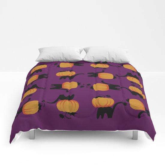 Halloween cat Comforters
