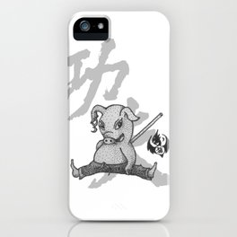 KungFu Zodiac - Pig iPhone Case