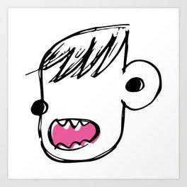 Burp face Art Print