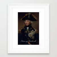 french Framed Art Prints featuring French by MrWhite