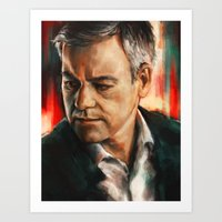 greg guillemin Art Prints featuring Greg Lestrade by Alice X. Zhang