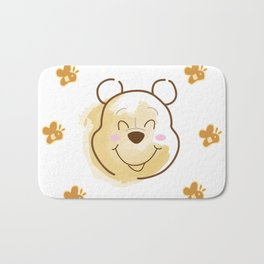 Inspired Pooh Bear surrounded with bees Bath Mat
