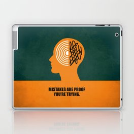 Lab No. 4 -Mistakes are proof you're trying corporate start-up quotes Poster Laptop & iPad Skin