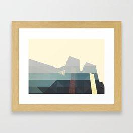 SHAPES ON BUILDINGS Framed Art Print
