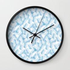 Frozen Palms Wall Clock