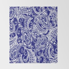 paisley batik Throw Blanket