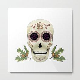 Knotwork Skull Metal Print