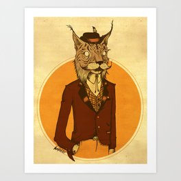 {Bosque Animal} Lince Art Print