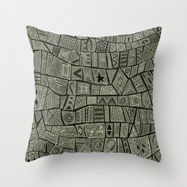 ESHE charcoal mono Throw Pillow