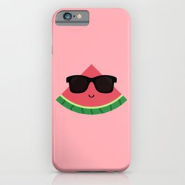 Cool Watermelon with Black Sunglasses iPhone Case