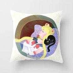 Sleeping Sailor Throw Pillow