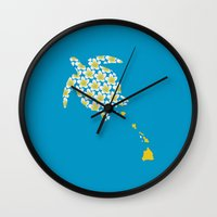 hawaii Wall Clocks featuring Hawaii by Erik Sandi Satresa