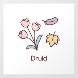Cute Dungeons and Dragons Druid class Art Print