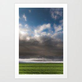 Green Field and Sky Art Print