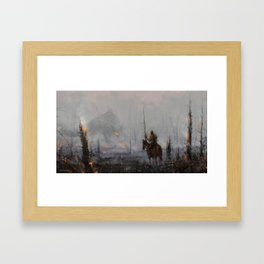 'last wooden knight, guardian of the forest' Framed Art Print