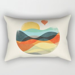 Let the world be your guide Rectangular Pillow