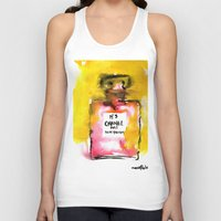 channel Tank Tops featuring Channel No. 5 by  Paula Moline