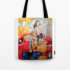 Vintage, music, retro. Tote Bag