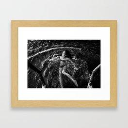 Explore the dark water Framed Art Print