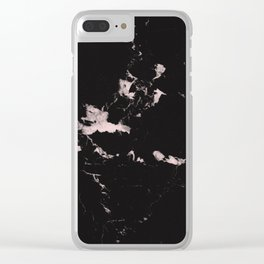 Black Marble and Blush Pink #1 #decor #art #society6 Clear iPhone Case