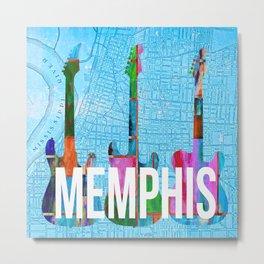 Memphis Music Scene Metal Print