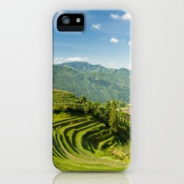 Rice terraces landscape Longsheng Guilin China iPhone Case