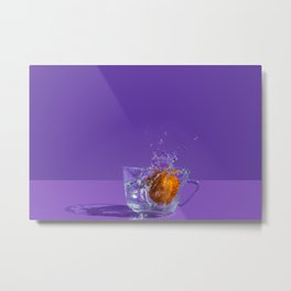 Orange Splash Metal Print