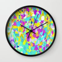 confetti Wall Clocks featuring Confetti  by Maggie Dylan
