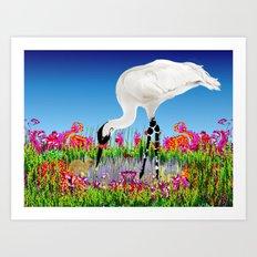 whooping crane Art Print