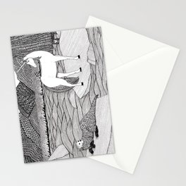 A Meeting by the Water--B&W Stationery Cards