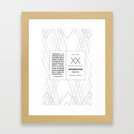 Arithmecatio Framed Art Print